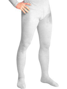 White Professional Tights w/ Feet for Men