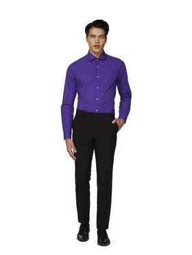 Opposuits Men's Purple Prince Solid Shirt