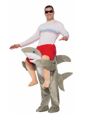 Ride on Shark Costume For Men