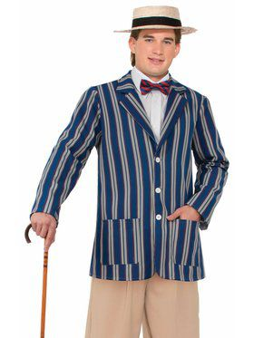 20's Style Striped Boating Jacket