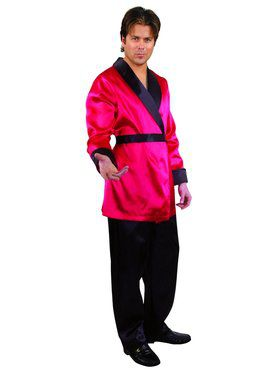 Men's Satin Smoking Jacket