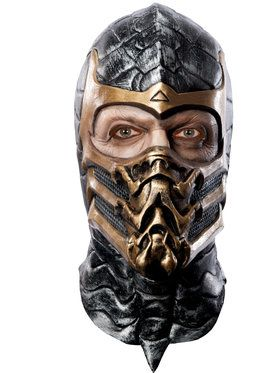 Men's Scorpion Latex Mask from Mortal Kombat