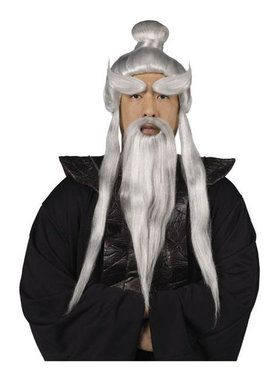 Men's Sensei Wig and Beard