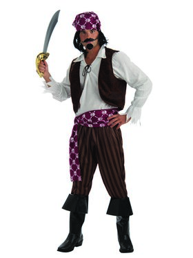 Mens Shipwrecked Pirate Costume