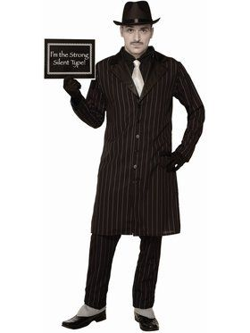 Silent Movie Gangster Men's Costume