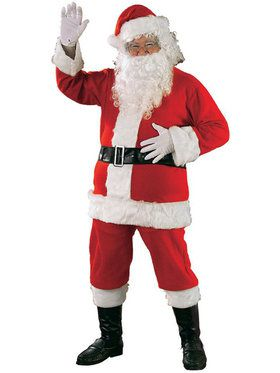 Men's Standard Size Flannel Santa Suit