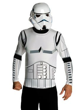 Mens Stormtrooper Top and Mask Set