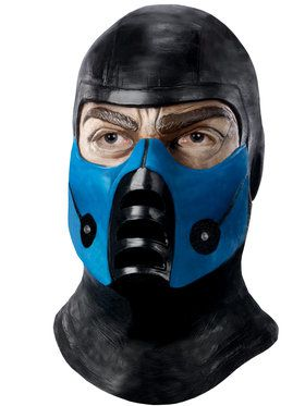 Men's Sub-Zero Latex Mask from Mortal Kombat