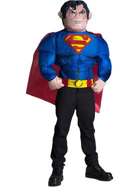 Inflatable Costume Top for Men - Superman