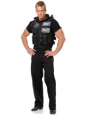 SWAT Team Vest Costume For Men