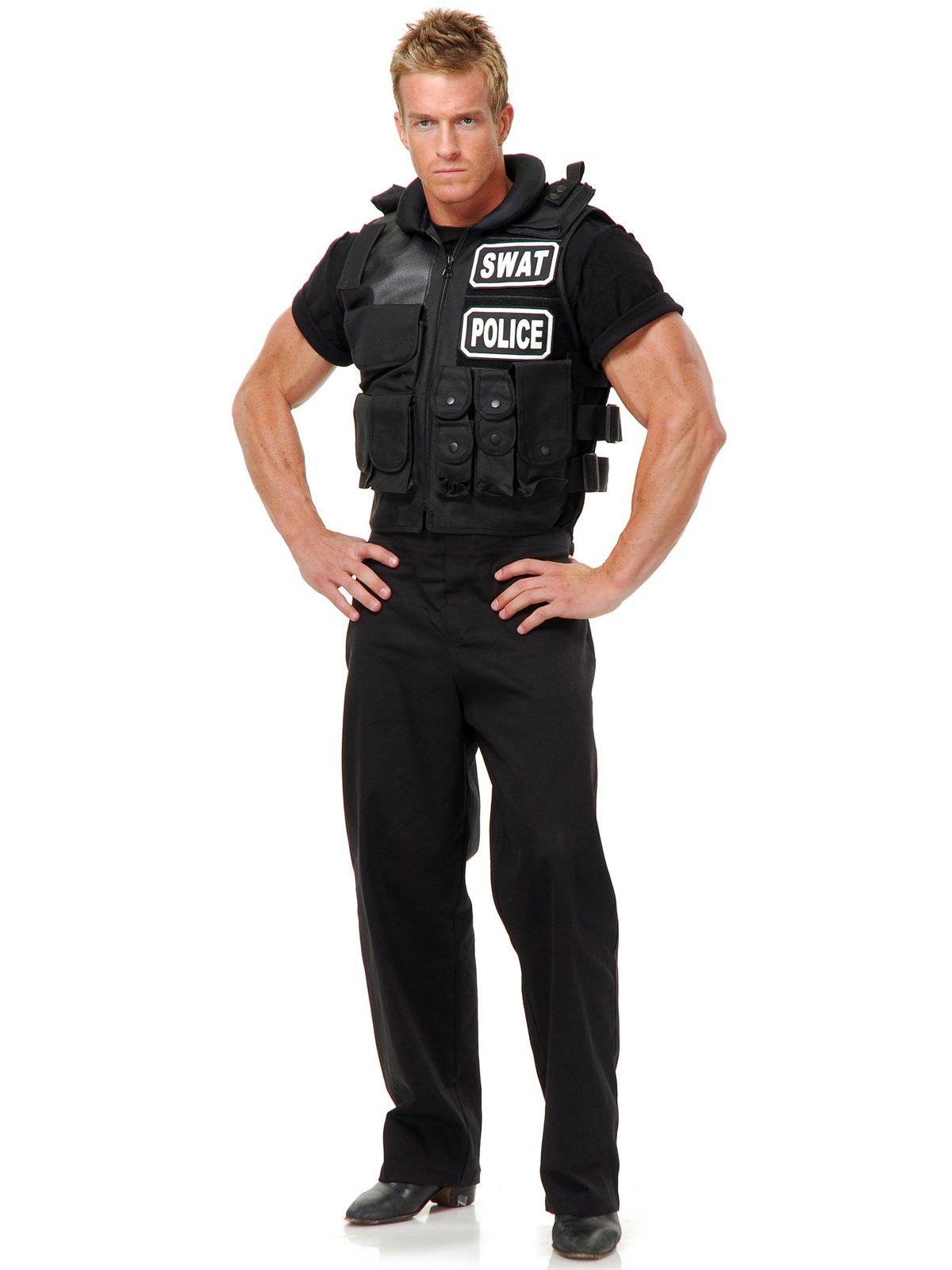 Charades Costumes Mens Swat Team Vest Costume
