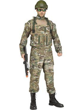 Tactical Mens Commando Costume