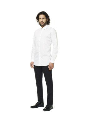 Opposuits Men's White Knight Solid Shirt