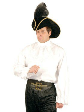 Adult's Cotton Pirate Shirt with Jabot