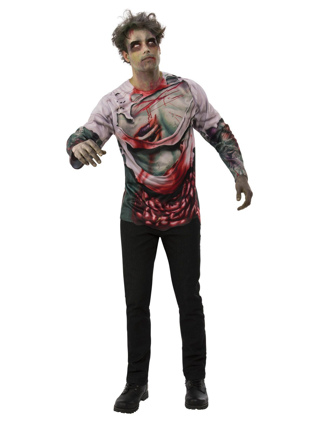 Bloody Prom Zombie Adult Mens Shirt