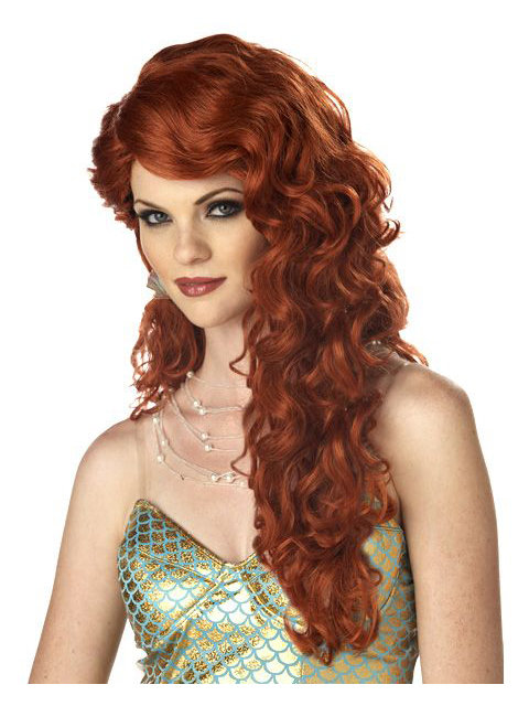 California Costumes Mermaid Auburn Wig Adult Costume