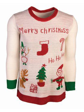 Merry Christmas Sweater Costume Top