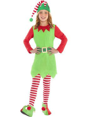 Merry Elf Girl's Costume