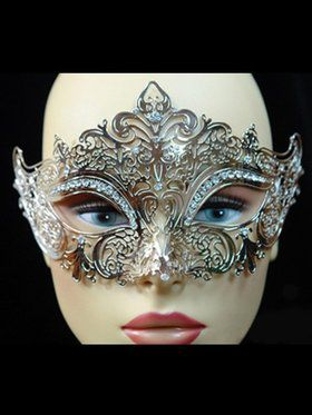 Metal and Diamond Venetian Mask