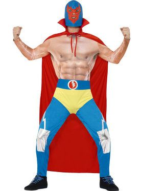Mexican Wrestler Men's Costume