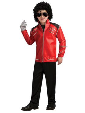 Michael Jackson Deluxe Red Zipper Jacket For Children