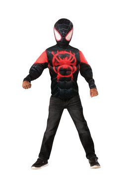 Muscle Chest Miles Morales Shirt Set Costume