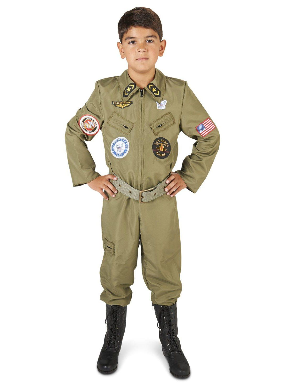 sc 1 st  Wholesale Halloween Costumes & Military Fighter Pilot Jumpsuit Child Costume