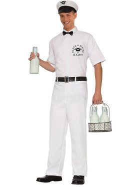 Milkman Mens Costume