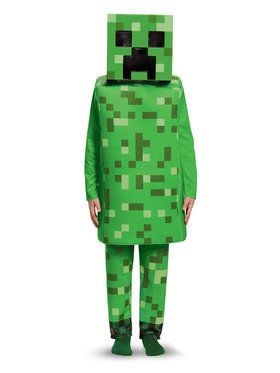 Child Deluxe Creeper Minecraft Costume