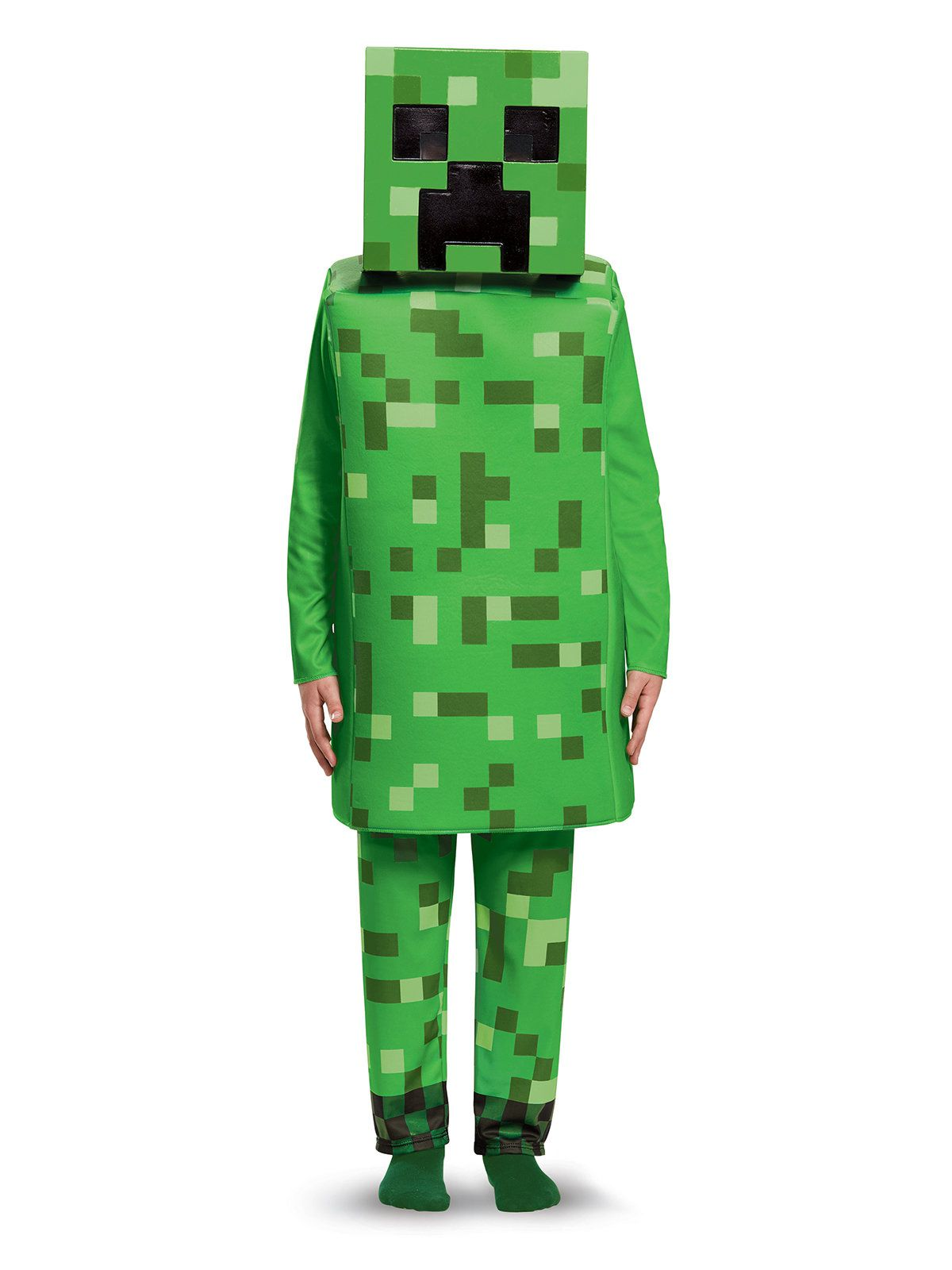 Child Deluxe Creeper Minecraft Costume Boys Costumes For 2019 Wholesale Halloween Costumes