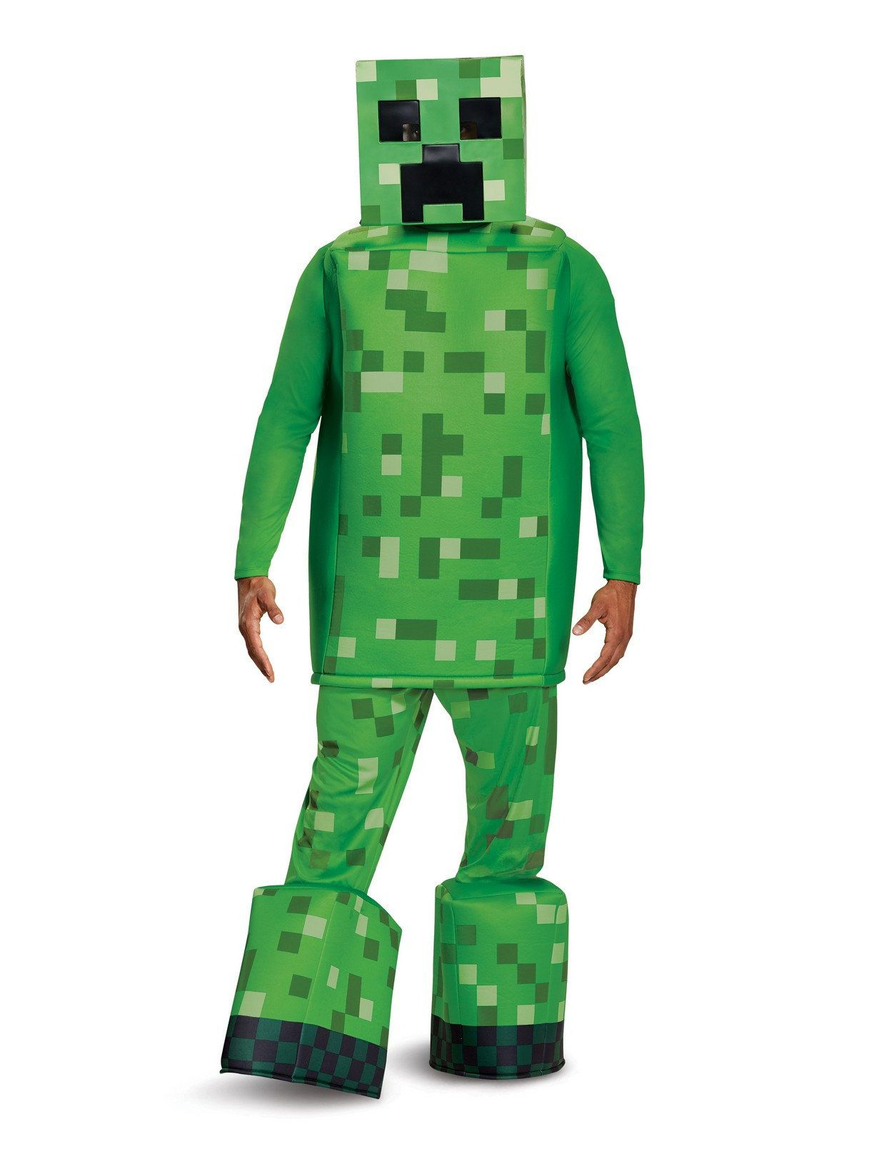 prestige minecraft creeper costume for adults - mens costumes for