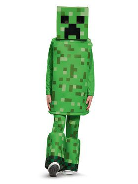 Child Prestige Creeper Minecraft Costume