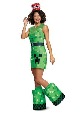 Minecraft Creeper Costume for Women and Teens