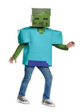 Classic Minecraft Zombie Costume for Children