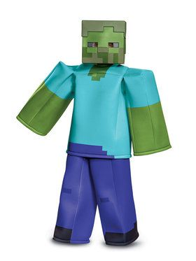 Prestige Minecraft Zombie Costume for Children