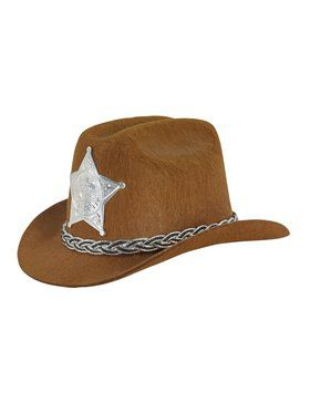 Mini Cowboy Adult Brown Hat