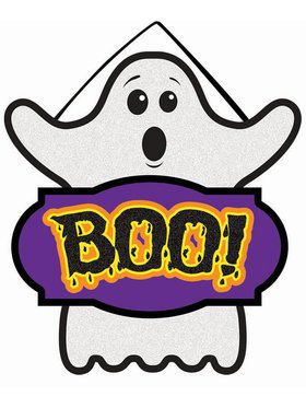 Boo Mini Sign Decoration