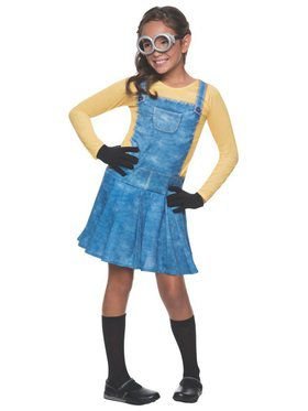 Minion Girl Kids Costume