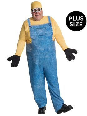 Plus Size Minions Movie: Minion Bob Costume For Adults
