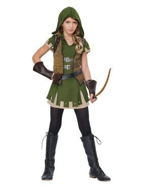 Miss Robin Hood Girl's Costume