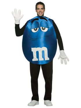 MMs Blue Poncho Costume For Adults