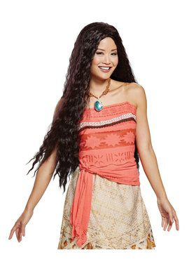 Deluxe Moana Wig for Adults
