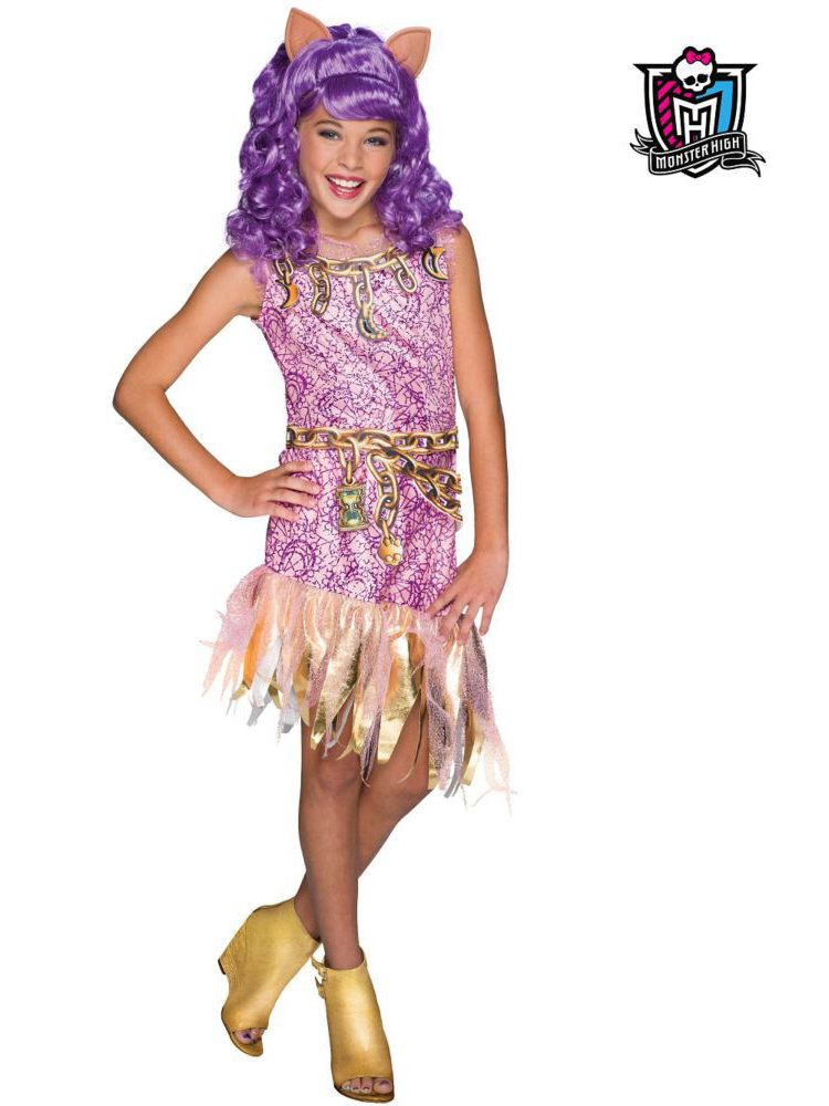 Monster High Haunted Clawdeen Wolf Girlu0027s Costume  sc 1 st  Wholesale Halloween Costumes & Girls Monster High Haunted Clawdeen Wolf Costume - Monster High ...