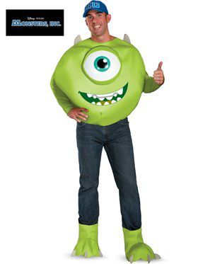 Monsters Inc. Mike Deluxe Men's Costume