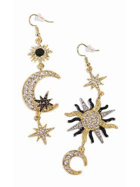Moon and Sun Accessory Earrings