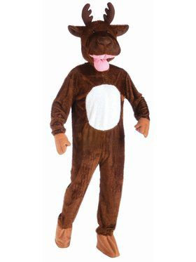 Mascot Plush Moose Adult Costume