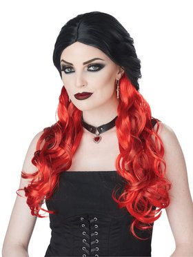 Morbid Mistress Wig Black/Red