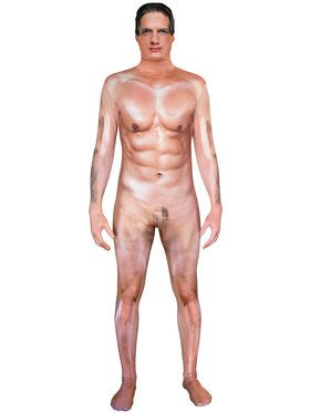 Morph Suit Censored Naked Man Men's Costume