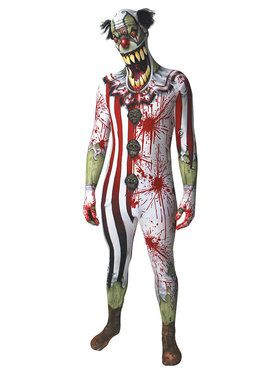 Morph Suit Clown Jaw Dropper Men's Costume