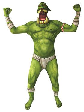Morph Suit Green ORC Jaw Dropper Men's Costume